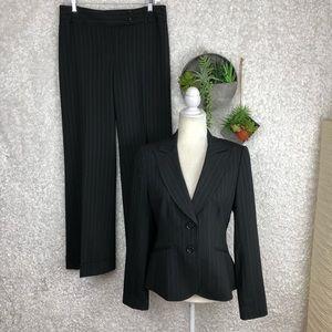 Ann Taylor Pin Striped Black Pant Suit | 4
